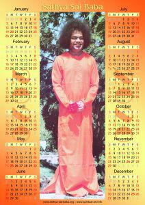 Sathya Sai Baba calendar