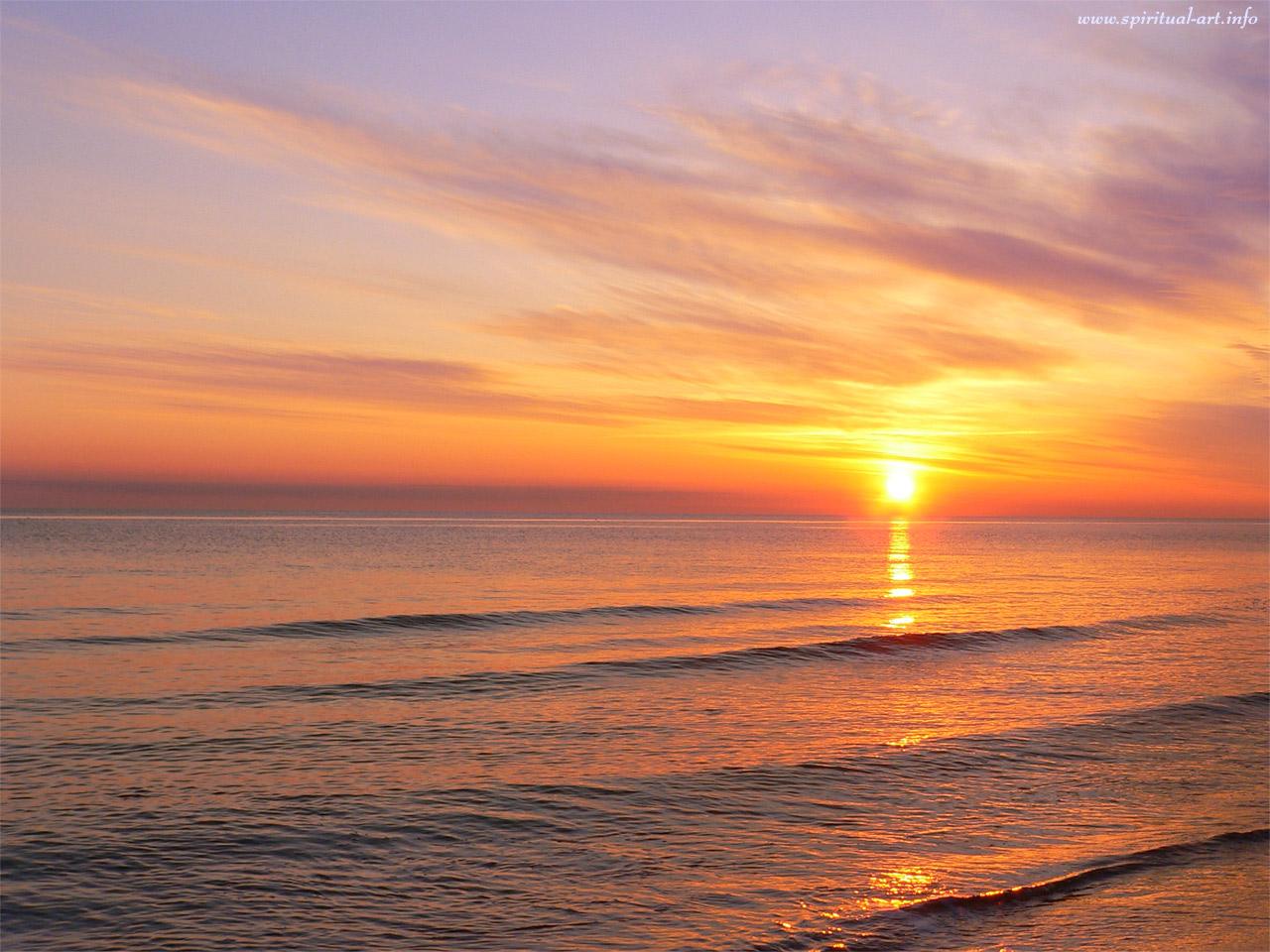 Фото восход на море 3